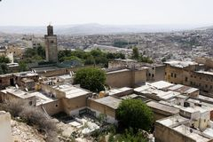 An overview of medina (old town) of Fes, Morocco Stock Images