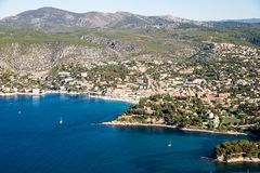 Overview of Cassis, France royalty free stock image