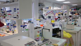 Overview of a modern laboratory stock video
