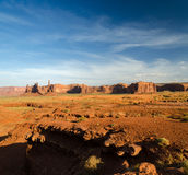 Overview of the monument valley Royalty Free Stock Photos