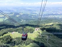 Overview of MT Pilatus from cablecar. Pilatus, also often referred to Mount Pilatus, is a mountain massif overlooking Lucerne in Central Switzerland. It is stock images