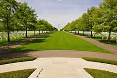 Overview, Netherlands American Cemetery Margraten Royalty Free Stock Photo