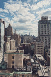 Overview of New York City Buildings on Sunny Day Royalty Free Stock Photo