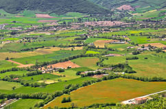 Overview of Norcia in Italy stock photo
