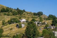 Free Overview Of Campocatino In The Apuan Alps, Aka Vagli Sotto. Beautiful Forgotten Gem In Garfagnana, Italy, Off The Beaten Royalty Free Stock Photo - 156071615