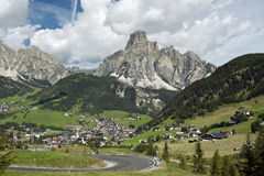 Overview Of Corvara Stock Image
