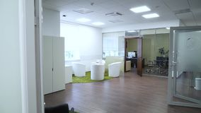 Overview of the office of the company stock video