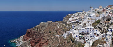 Overview on Oia on the island of Santorini Stock Photography