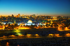 Overview of Old City in Jerusalem, Israel Royalty Free Stock Photography