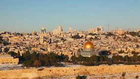 Overview of Old City in Jerusalem, Israel stock footage