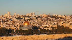 Overview of Old City in Jerusalem stock video