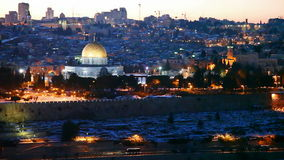 Overview of Old City in Jerusalem, Israel stock video footage