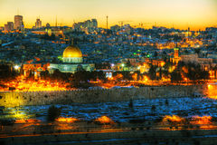 Overview of Old City in Jerusalem, Israel Royalty Free Stock Photo