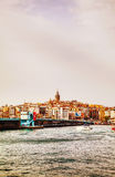 Overview of old Istanbul with Galata tower Stock Photos
