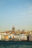 Overview of old Istanbul with Galata tower Royalty Free Stock Photos