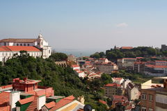 Overview of old Lisbon. From Graça Hill Royalty Free Stock Photography