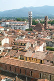 Overview at the old part of Lucca Stock Image