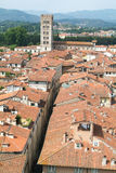 Overview at the old part of Lucca Royalty Free Stock Photo