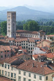Overview at the old part of Lucca Royalty Free Stock Photography