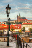 Overview of old Prague from Charles bridge side Royalty Free Stock Images
