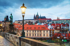 Overview of old Prague, Czech Republic Stock Photo