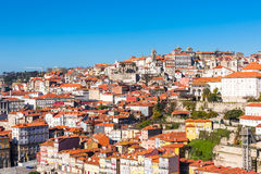 Overview of Old Town of Porto, Portugal. Royalty Free Stock Photography