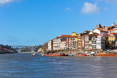 Overview of Old Town of Porto, Portugal Stock Photography