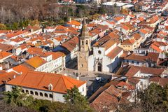 Overview of Old Town of Tomar, Portugal Royalty Free Stock Photos