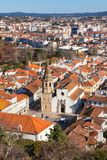 Overview of Old Town of Tomar, Portugal. Stock Photo