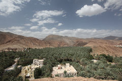 Overview of Oman. Typical landscape in Oman, with nature and buildings Stock Image