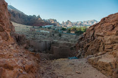 Overview of one side of Al Ula old city, Saudi Arabia Stock Image