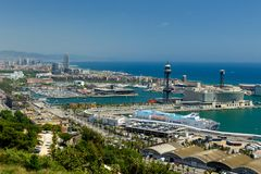 Harbor or Barcelona royalty free stock photo