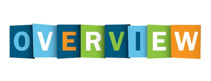 Free OVERVIEW Overlapping Letters Banner Royalty Free Stock Photos - 117930798