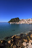Overview on Parga Greece. Overview on Parga Epirus Greece Royalty Free Stock Images