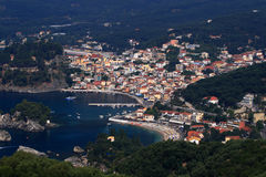 Overview on Parga Greece Stock Photos