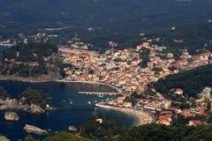 Overview on Parga Greece. Overview on Parga Epirus Greece Stock Photos