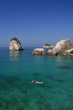 Overview on Parga Greece Royalty Free Stock Images