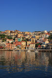 Overview on Parga Greece. Overview on the village of Parga Greece Royalty Free Stock Photography
