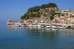 Overview on Parga Greece. Overview on the village of Parga Greece Stock Photo
