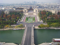 Overview of Paris city Stock Photos