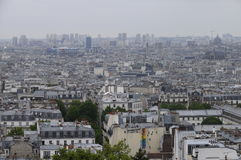 Overview of Paris roofs in france Stock Photos