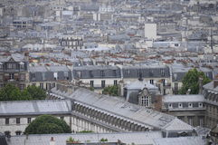 Overview of Paris roofs in france Royalty Free Stock Photo