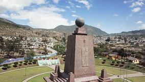 Overview of the park Half of the World in Quito dedicated to the equator line. Quito Ecuador April 2018 Overview of the park Half of the World in Quito dedicated stock video
