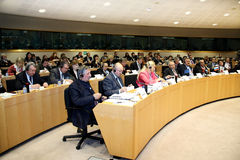 Overview participants of the European Union Forum. Stock Photo