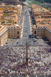 Overview of Piazza of San Pietro Royalty Free Stock Images