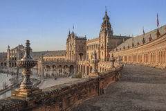 Overview of the Plaza of Spain Royalty Free Stock Photography
