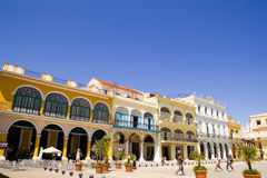 Overview of Plaza Vieja - Old Town Square Stock Photo