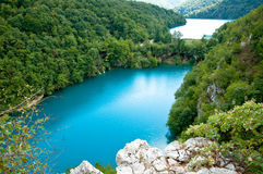Overview of Plitvice Lakes Nature Reserve in Croat Stock Images