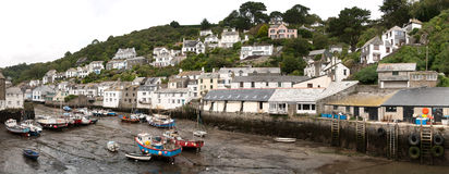 Overview of Polperro Stock Image