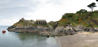 Overview of Polperro Royalty Free Stock Photo